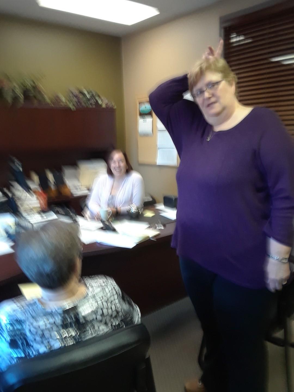 010Cathleen , Chris in office